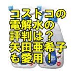 コストコの電解水の口コミは?矢田亜希子が愛用!値段や売り場も!