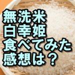 白幸姫の感想は?おいしい?まずい? 楽天で人気の無洗米!